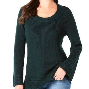 Style & Co Flare Sleeve Contrast Border Sweater